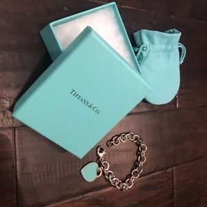 Tiffany & Co. - Heart Tag Charm Bracelet
